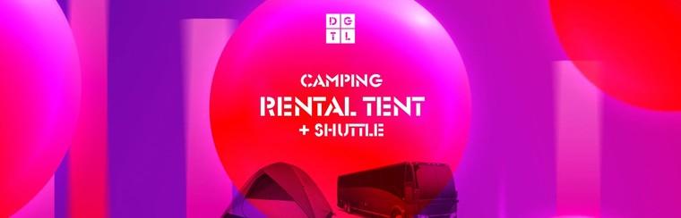 DGTL Camping pakket: Huurtent + Shuttlebus