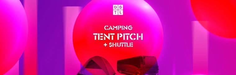 DGTL Camping pakket: Tentplek + Shuttlebus