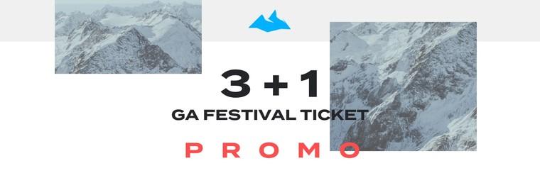 3+1 GA Festival Ticket