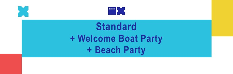 Standard Ticket + Welcome Boat Party Ticket + Beach Party Ticket