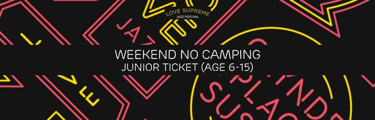 Standard Weekend No Camping Junior Ticket (Age 6-15)