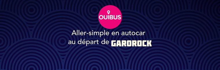 Ouibus Travel - einfache Busfahrt vom Garorock