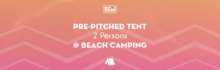 Pre-pitched Tent for 2 Persons @ Beach Camping