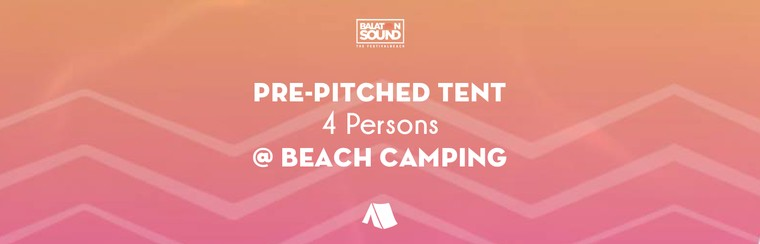 Pre-pitched Tent for 4 Persons @ Beach Camping