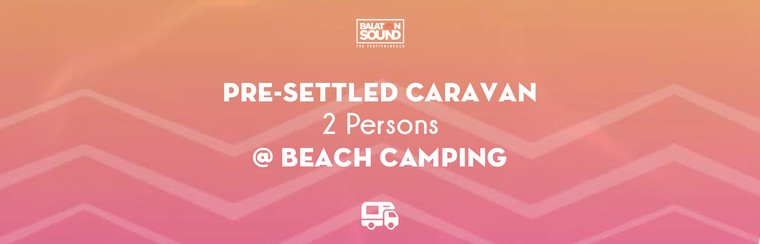 Pre-settled Caravan for 2 Persons @ Beach Camping