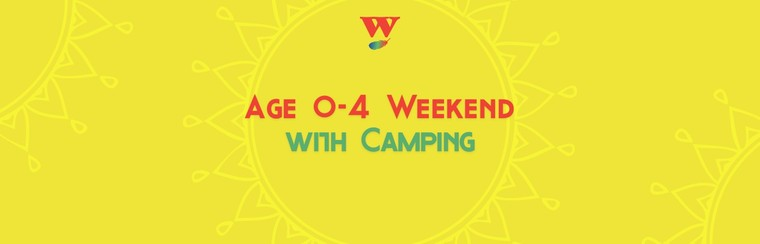 Age 0-4 Weekend Ticket with Camping
