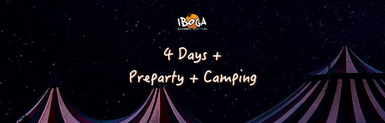 Pass 4 Days + Preparty + Camping