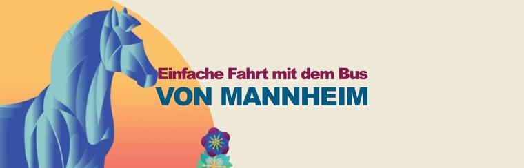 Einfache Fahrt mit dem Bus von Mannheim