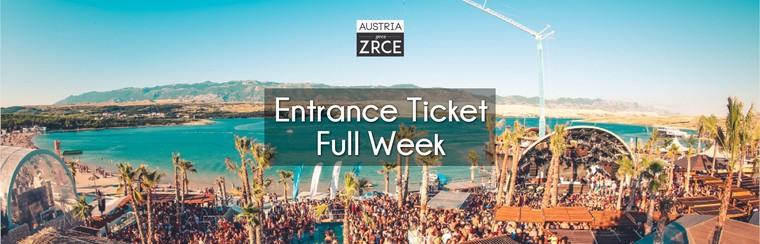 Entrance Ticket Full Week (20th-27th July)