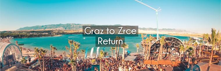 Graz to Zrce Return Coach