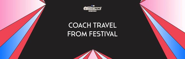 Viaje solo ida en autobús desde el festival