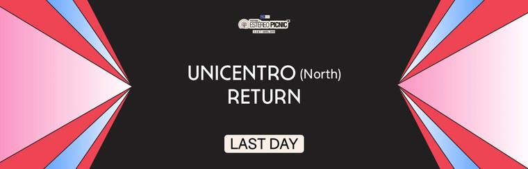 Viaje desde Unicentro (norte) con vuelta el último día de festival