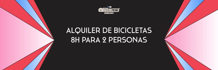 Alquiler de bicicleta 8 horas 2 personas