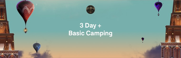 3-Day Pass + Basic Camping
