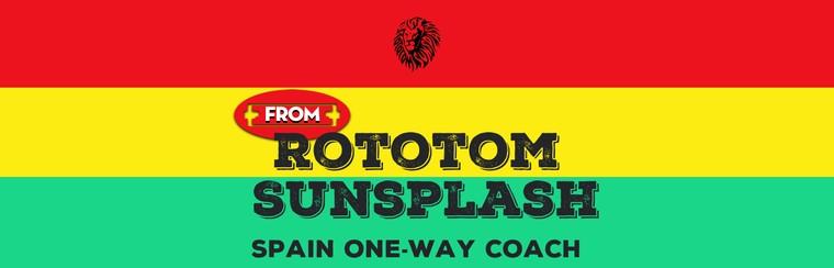 Spain One-Way Coach Travel from Rototom Sunsplash