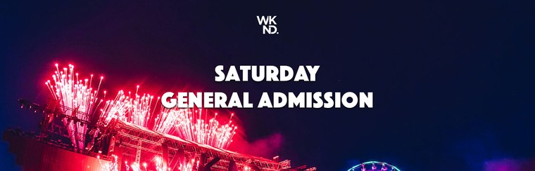 Saturday Pass General Admission