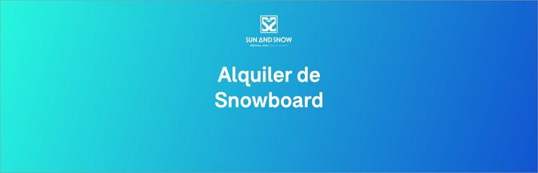 Snowboard Material Rental