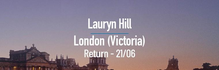 Lauryn Hill | London (Victoria) Day Return Coach - 21/06