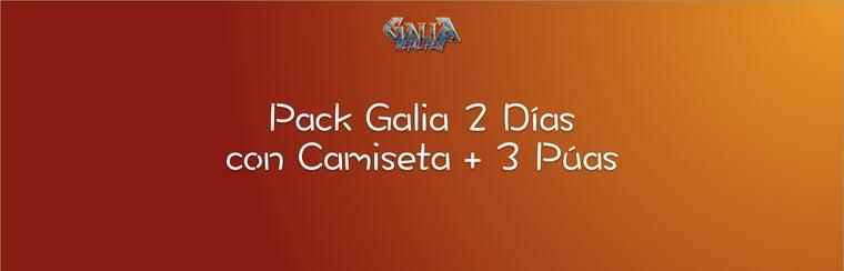 2 Days Galia Pack with T-shirt + 3 Guitar Picks