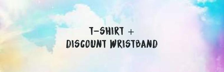 T-Shirt + Discount Wristband