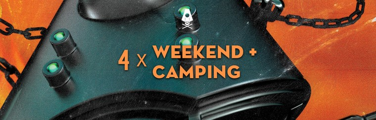 4 x Weekend Ticket + Camping