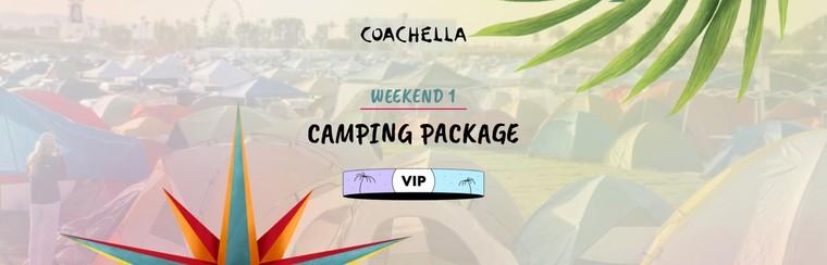 1er week-end : Packages Camping - VIP