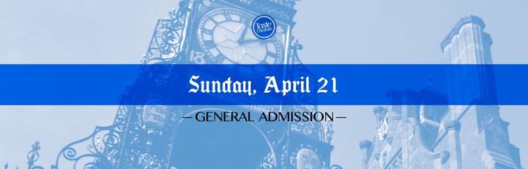 GA Ticket | Sunday 21st April