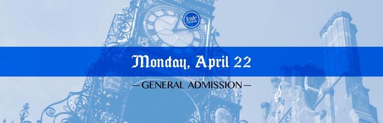 GA Ticket | Monday 22nd April
