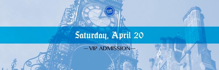 VIP Ticket | Saturday 20th April