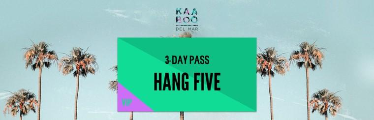 Hang Five VIP 3-Day Pass