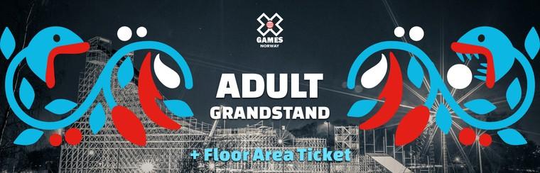 Adult Grandstand + Floor Area Ticket