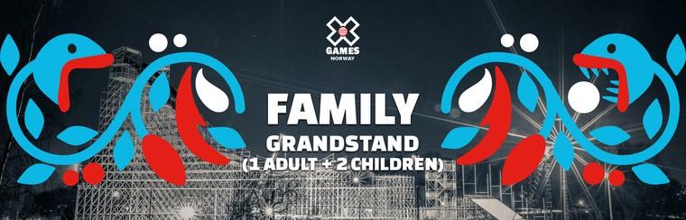 Family Grandstand Ticket (1 Adult + 2 Children)