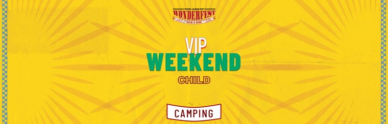 VIP Child Weekend Camping Ticket