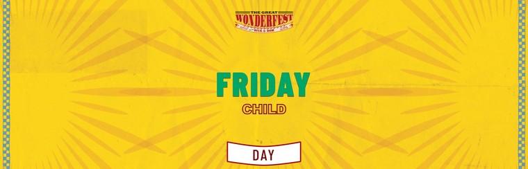 Child Friday Day Ticket