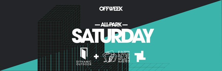 Saturday All Park Ticket (Diynamic + FRRC & Fabric)