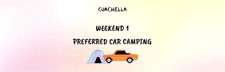1er week-end : Camping préférentiel avec véhicule