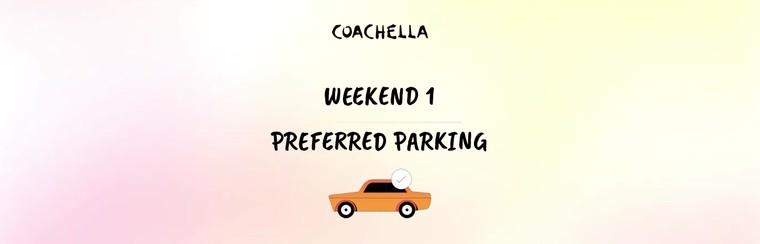 1er week-end : Parking préférentiel