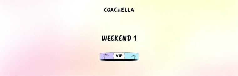1er week-end : Pass VIP