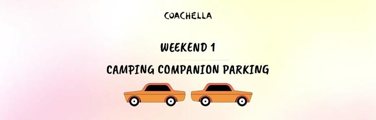 1er week-end : Parking Camping (Véhicule additionnel)
