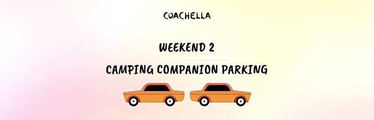 2e week-end : Parking Camping (Véhicule additionnel)