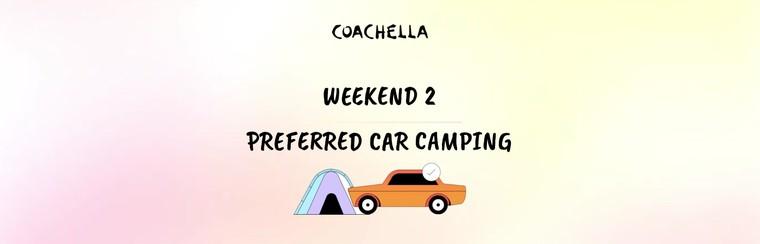 2e week-end : Camping préférentiel avec véhicule