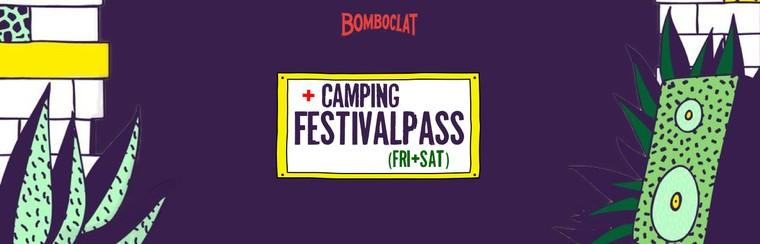 Festivalticket (vrijdag en zaterdag) + camping