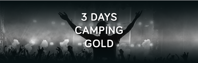 Gold 3 Day Camping Ticket