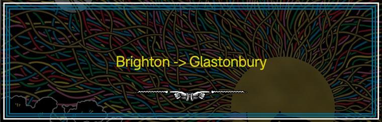 Brighton to Glastonbury Coach Travel