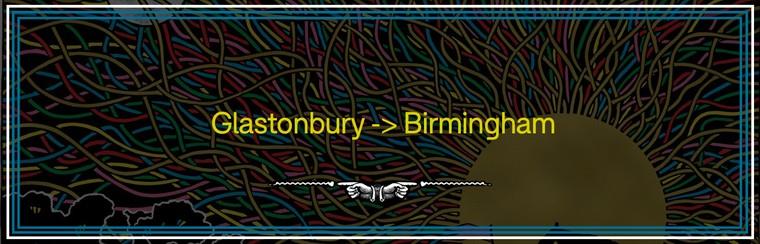 Glastonbury to Birmingham Coach Travel