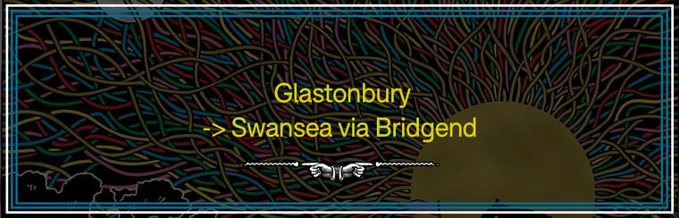 Glastonbury to Swansea via Bridgend Coach Travel