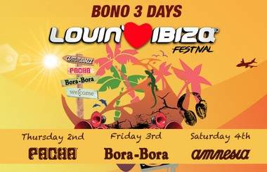 Lovin' Ibiza 3 Days Ticket: Pacha+Bora Bora+Amnesia