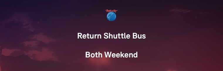 Return Shuttle Bus - Both Weekend