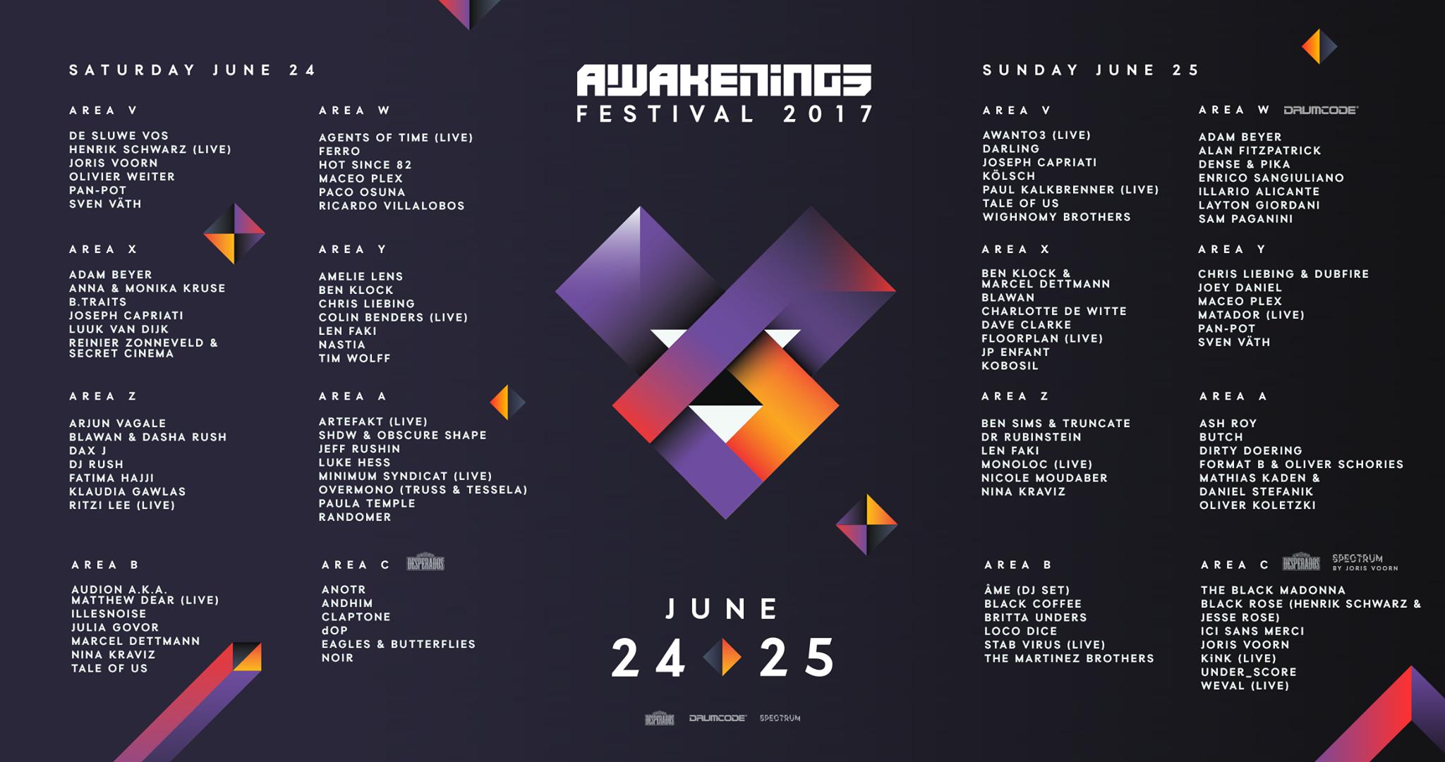 Awakenings Festival Complete Lineup Announced Festicket Magazine