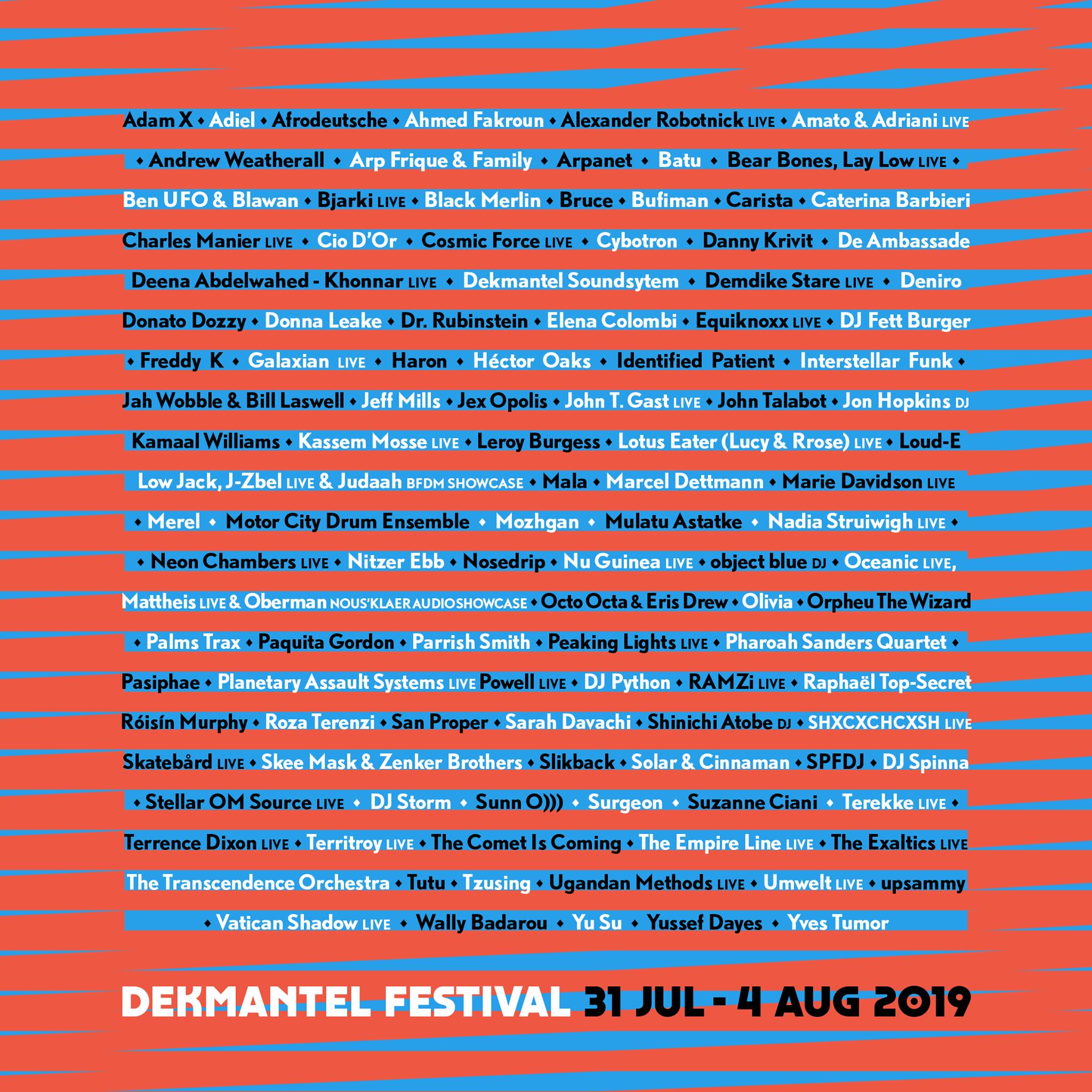 Updated: Dekmantel Reveal 2019 Lineup